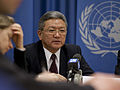 Ambassador Suren BADRAL at UN Press Briefing.jpg