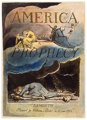 America a Prophecy - Title page of America a Prophecy, copy A (printed 1795), collection the Morgan Library