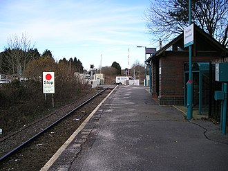 Ammanford railway station - Image: Ammanford station geograph.org.uk 1740384