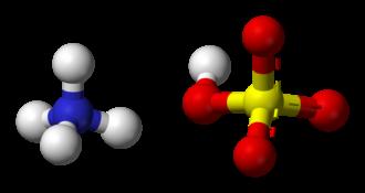 Ammonium bisulfate - Image: Ammonium bisulfate 3D balls