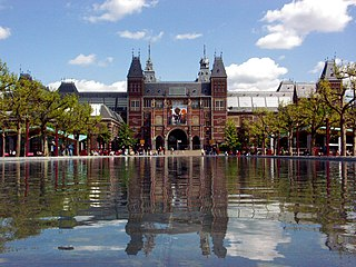 A view of the Rijksmuseum, Amsterdam