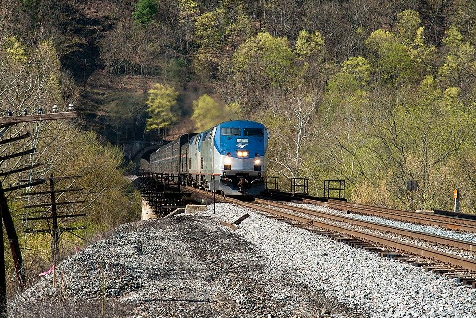 Amtrak 30 on the Magnolia Cutoff