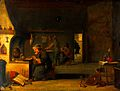An alchemist in his laboratory. Oil painting by a follower o Wellcome V0017633.jpg