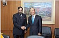 Anand Sharma greeted by the South Korean Trade Minister, Mr. Kim Jong Hoon during the signing of Comprehensive Economic Partnership Agreement (CEPA) between India and Republic of Korea, in Seoul on August 07, 2009.jpg