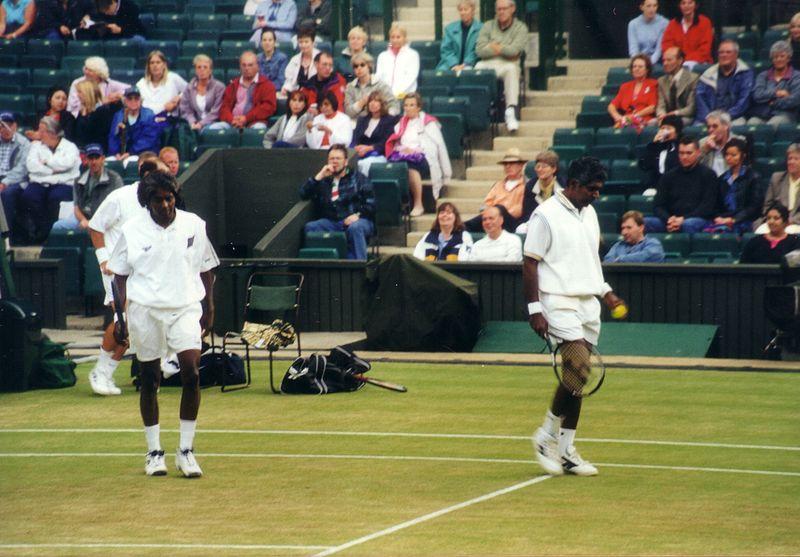 File:Anand and Vijay Amritraj 2000 Wimbledon Sr Invitation Doubles Finals.jpg