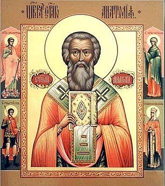Anatolius of Constantinople - Icon of Patriarch Anatolius of Constantinople