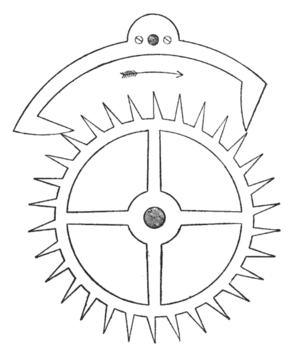 Anchor escapement - Anchor escapement.