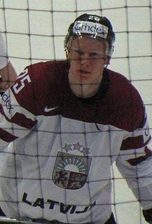 Andris Džeriņš Latvian ice hockey player