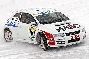 Andros Trophy - A Fiat Stilo (all-wheel drive prototype) racing in the French Trophée Andros 2005/2006