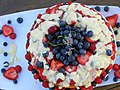 Angel food cake with berries - Birthday cake.jpg