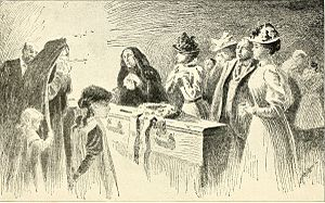 Mary Lucy Dosh - Funeral of Marcy Lucy Dosh (illustration from Angels of the battlefield - a history of the labors of the Catholic sisterhoods in the late civil war (1898) by George Barton