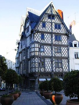 Maison d'Adam, House of Adam, the oldest house of Angers.