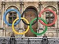 Anneaux Olympiques Place Hôtel Ville Esplanade Libération - Paris IV (FR75) - 2021-08-23 - 2.jpg