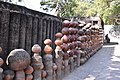 Another wall made from earthen pots- gave a nice rural feel to the place (29336088427).jpg