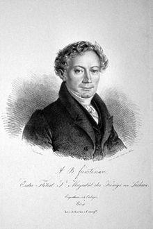 Anton Bernhard Fürstenau, Lithographie von Josef Kriehuber, um 1830 (Quelle: Wikimedia)