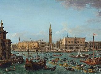 Antonio Joli - Image: Antonio Joli Einholung des Nuntius Stoppani 1741