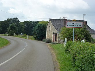 Any-Martin-Rieux - Image: Any Martin Rieux (Aisne) city limit sign