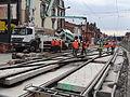 Anzin & Valenciennes - Travaux de raccordement des lignes A & B du tramway de Valenciennes à la Croix d'Anzin le 9 août 2013 (28).JPG