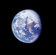 Ap 16 view of Earth during TLC