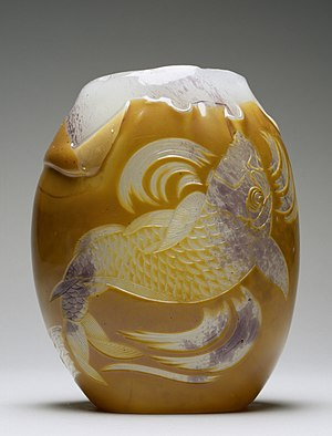 Japonism - Carp Vase designed by Eugène Rousseau and made by Appert Frères,  1878–84