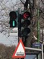 Arad, trama semaforo ĉe la urbodomo.jpeg