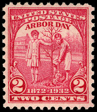 Julius Sterling Morton - Arbor Day commemorative stamp issued to coincide with the 100th anniversary of J. Sterling Morton's birth