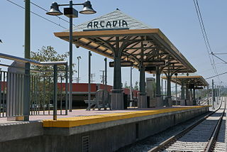 Arcadia station railway station in Los Angeles