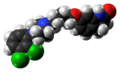 Aripiprazole molecule from xtal spacefill.png