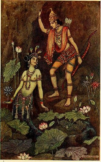 Ulupi - Ulupi and Arjuna