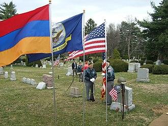 Arlington Cemetery (Pennsylvania) - Veterans visiting the graves of fallen soldiers