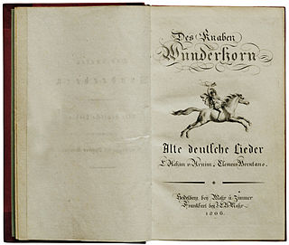 <i>Des Knaben Wunderhorn</i> collection of German folk poems and songs edited by Achim von Arnim and Clemens Brentano