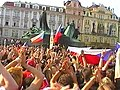 Arrival of ice hockey world champions Prague Old Town Square 2005.JPG