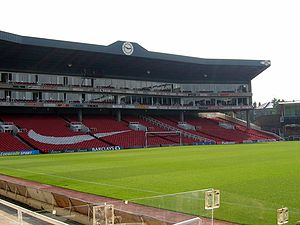 Arsenal Stadium interior Clock End.jpg
