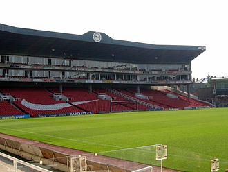 Highbury - The Clock End, Arsenal Stadium in 2005; since demolished.