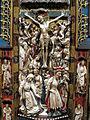 Artista inglese, forse di nottingham, trittico con storie della passione, 1350-1400 ca., alabastro, legno e vetri 05.JPG