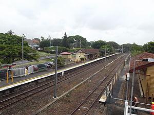 Ascot railway station, Brisbane - Westbound view in July 2012