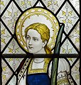 Ashwell, St Mary's church, Stained glass window detail (27122616247).jpg
