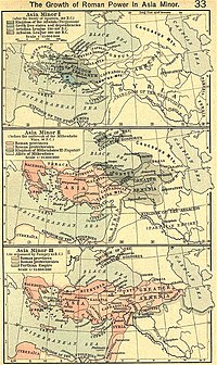 The growth of Roman political power in Asia Minor