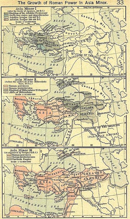 Kis-Ázsiai a római hódítások idején. - Forrás: Wikipédia