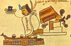 Atonal II - Atonal's death and the conquest of Coixtlahuaca, in the Aztec Codex Mendoza.