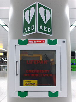 Automated External Defibrillator Amsterdam airport front