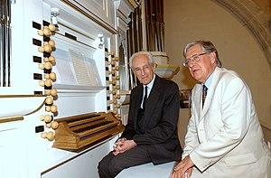 Gilles Cantagrel - Image: Avec Gustav Leonhardt à Pontaumur