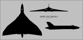 Avro Vulcan B.2 three-view silhouette.png