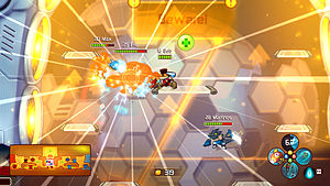 Ronimo Games - Two teams battle it out in Awesomenauts