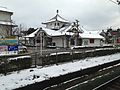 Azuchi Castle Museum from platform of Azuchi Station.JPG