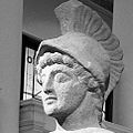 B&W Headshot of Roman statue of Mars.JPG