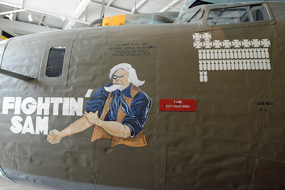 B-24 nose art at Mighty 8th Air Force Museum, Pooler, GA, US