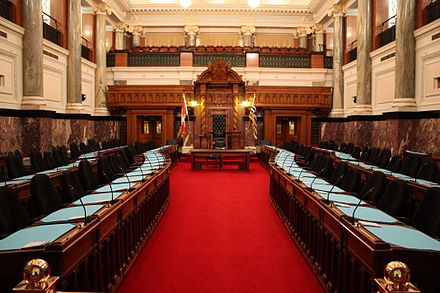 The meeting chamber of the Legislative Assembly BC-Legislative-Assembly-Chamber.jpg