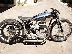 Bobber (motorcycle) - A BSA M20 bobber