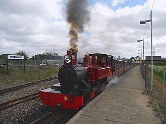 Bure Valley Railway - Image: BVR Class ZB No 9 Mark Timothy and train Wroxham
